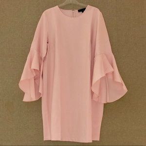 Eloquii Pink Shift Dress Bell Sleeves Size 18